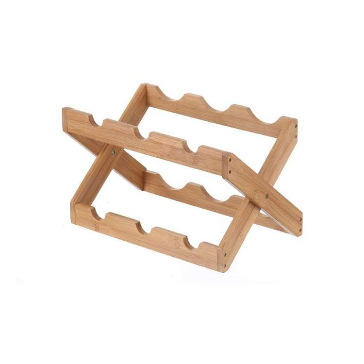 LT Williams Bamboo 6 Bottle Folding Wine Rack