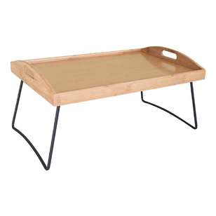 LT Williams Bamboo Server Tray With Foldable Legs