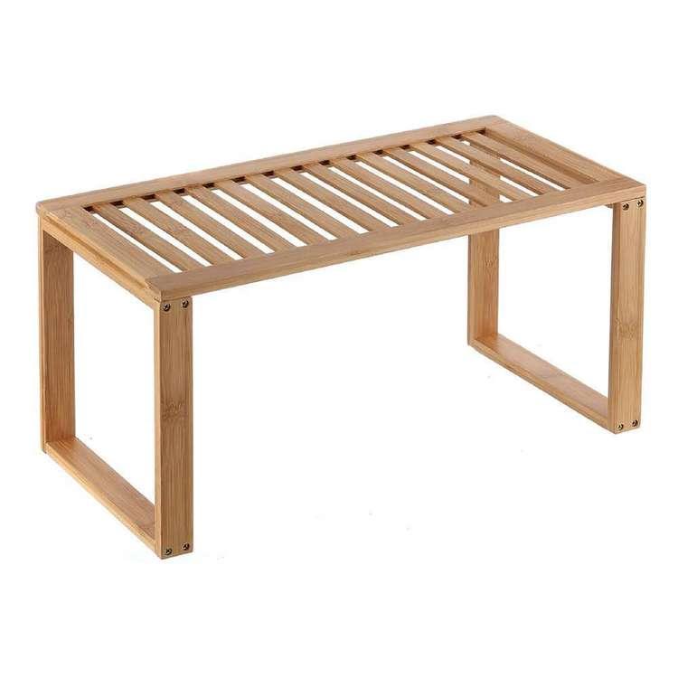LT Williams Bamboo 1 Tier Rectangle Shelf