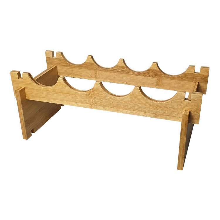 LT Williams Bamboo Stackable 4 Bottle Rack