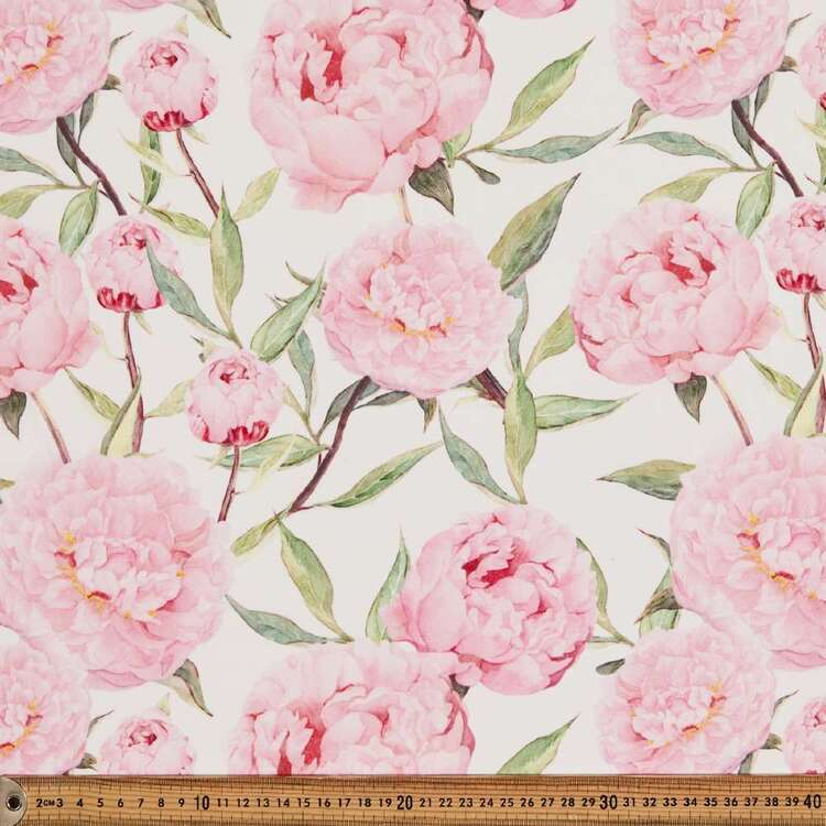 Rose #3 Printed 145 cm French Crepe Fabric