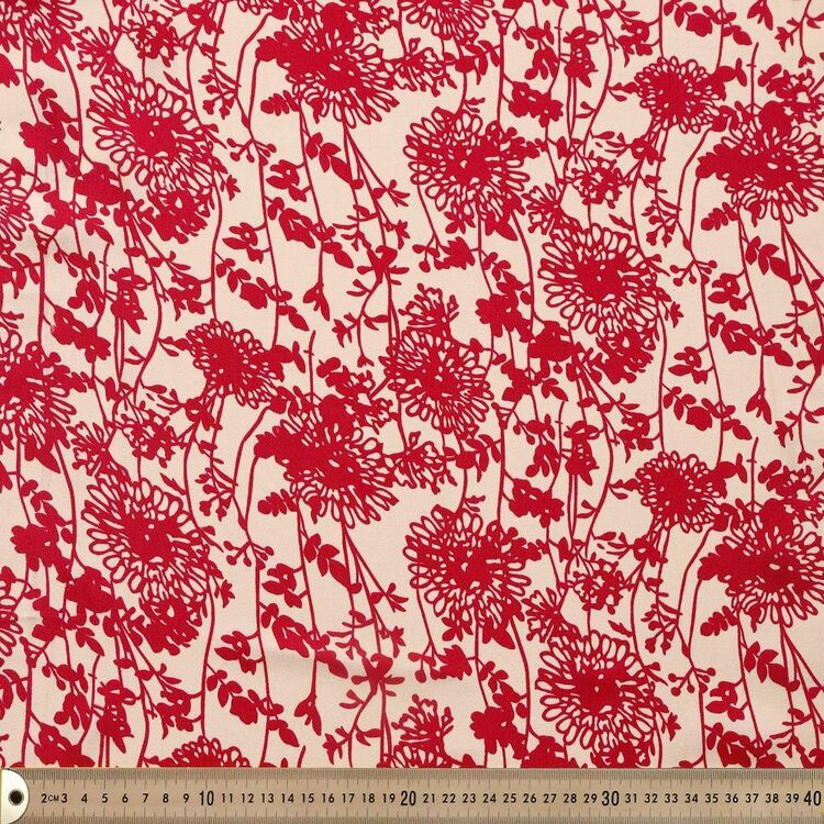 Dandelion Printed 145 cm French Crepe Fabric