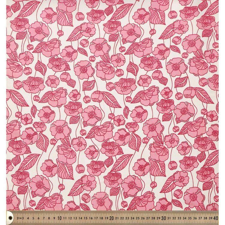 Petal Printed 145 cm French Crepe Fabric