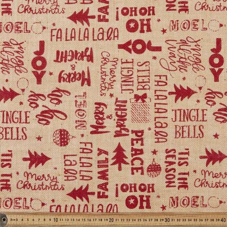 Christmas Printed Hessian Fabric