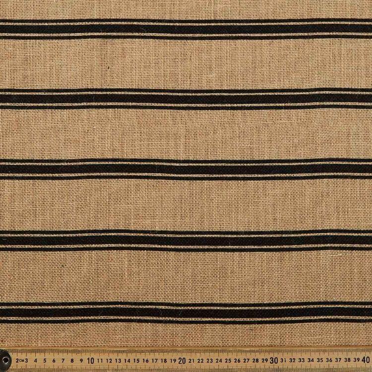 Stripe Printed Hessian Fabric