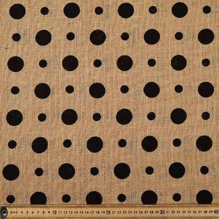 Spot Printed Hessian Fabric