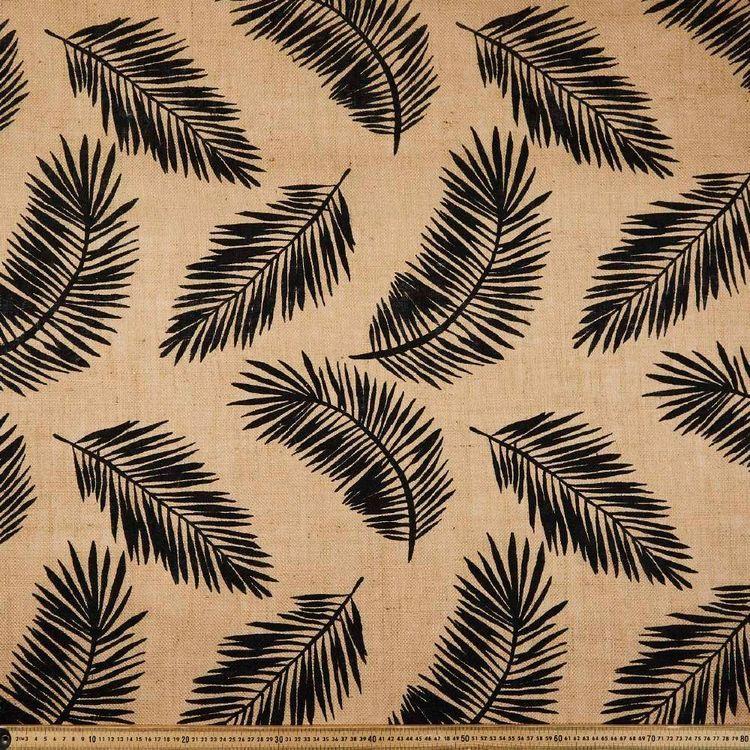 Palm Printed Hessian Fabric