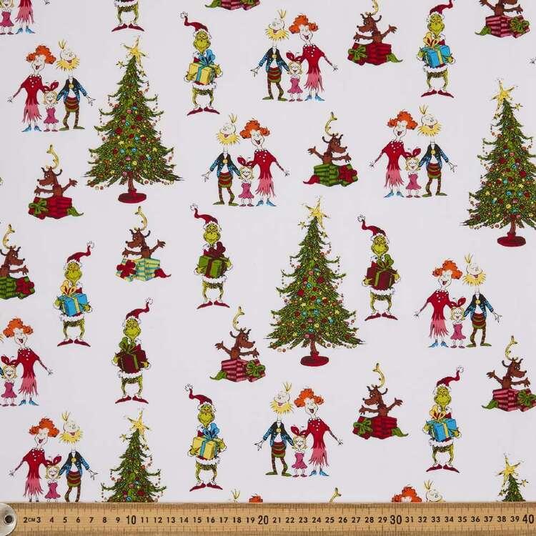 Grinchmas Family Spot Cotton Fabric