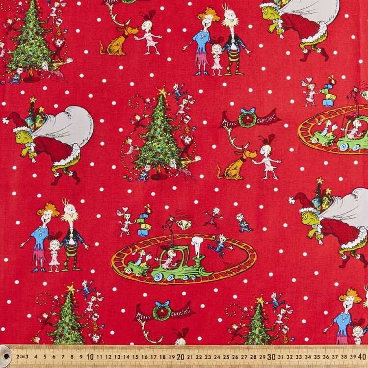 Grinchmas Family Cotton Fabric