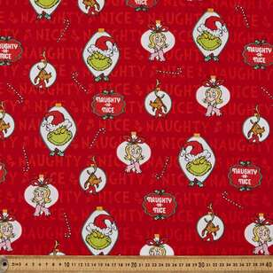 Grinchy Ornaments Cotton Fabric