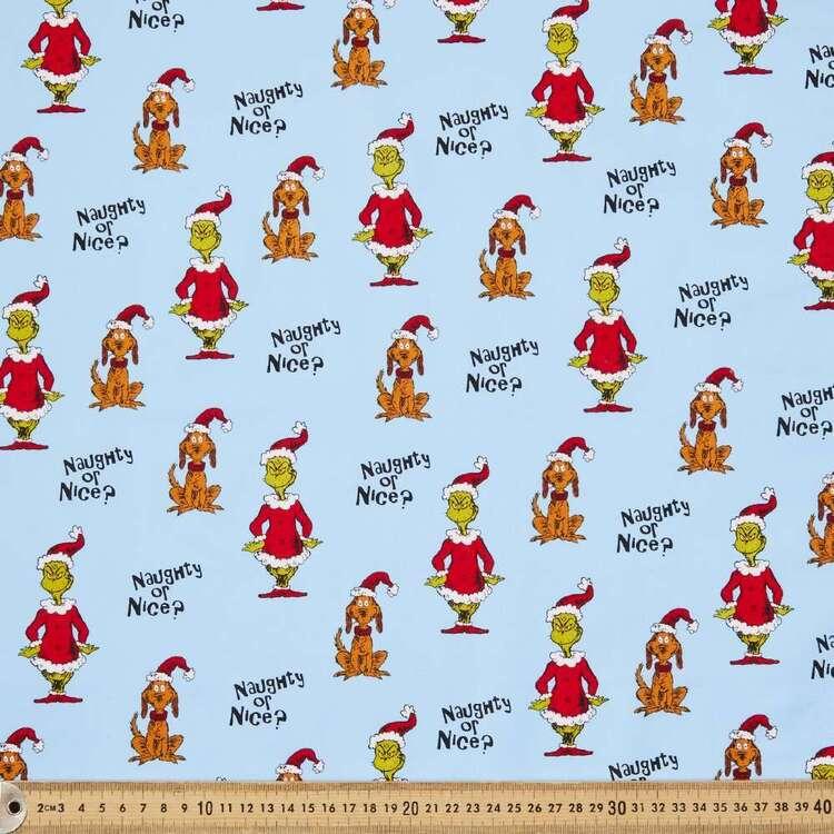 Grinchmas Naughty Or Nice Cotton Fabric