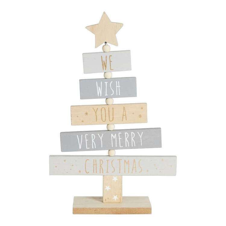 Living Space Festive Xmas MDF Tree Sign
