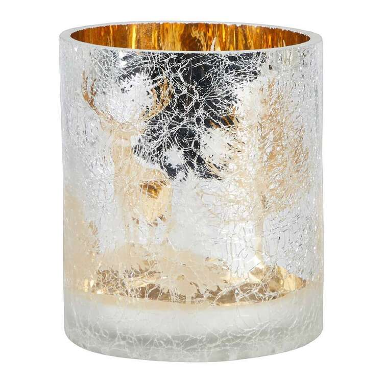 Living Space Festive Xmas Frosted Candle Holder