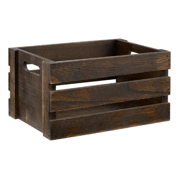 Bouclair Autumn Folk Wood Crate