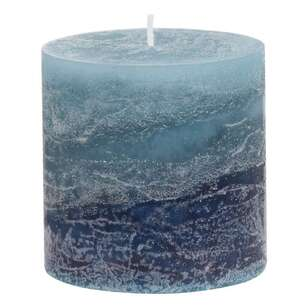 Bouclair Autumn Folk Ocean Breeze Scented Pillar Candle