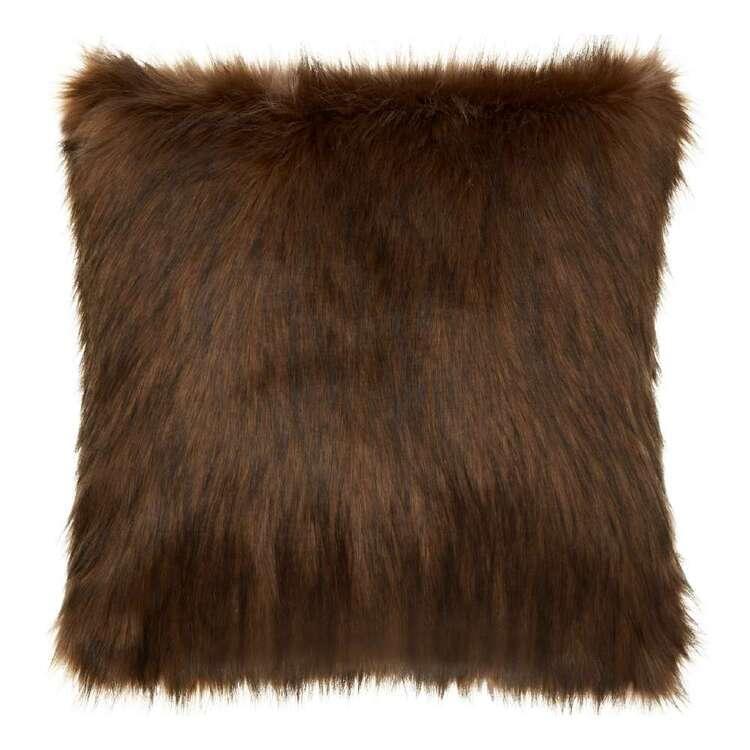 Bouclair Autumn Folk Red Fox Faux Fur Cushion