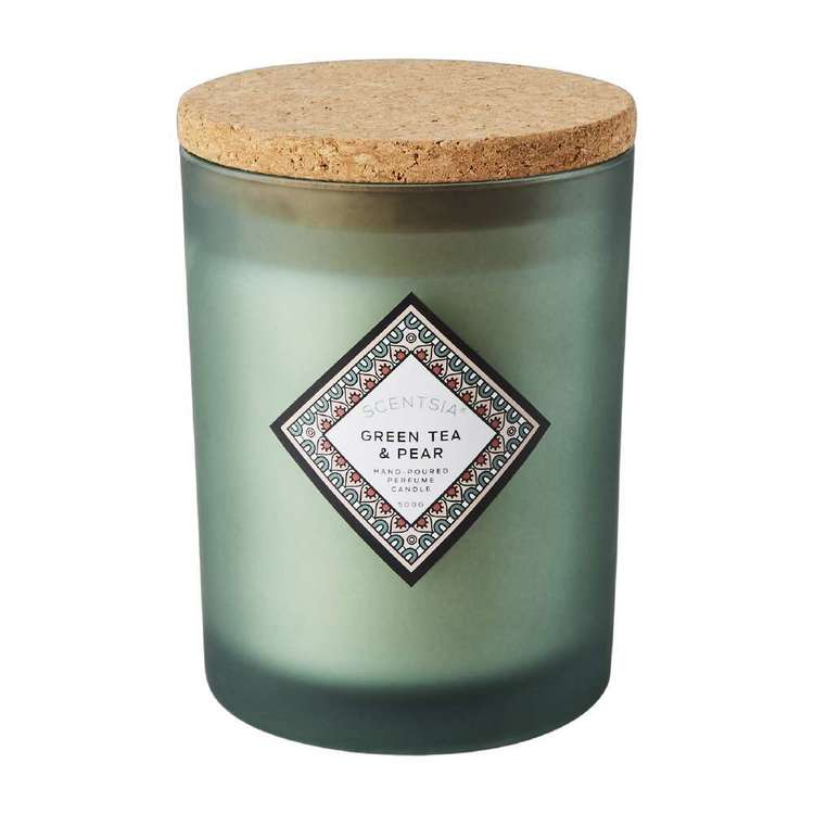 Scentsia Urban Sanctuary Green Tea & Pear Candle With Cork Lid
