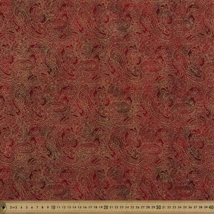 Metallicus Paisley Cotton Fabric