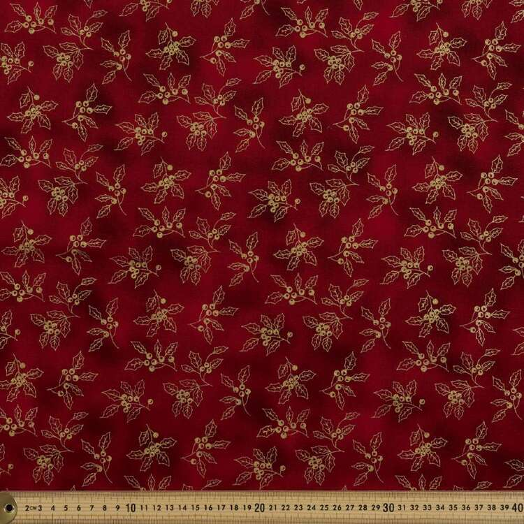 Metallicus Holly Cotton Fabric