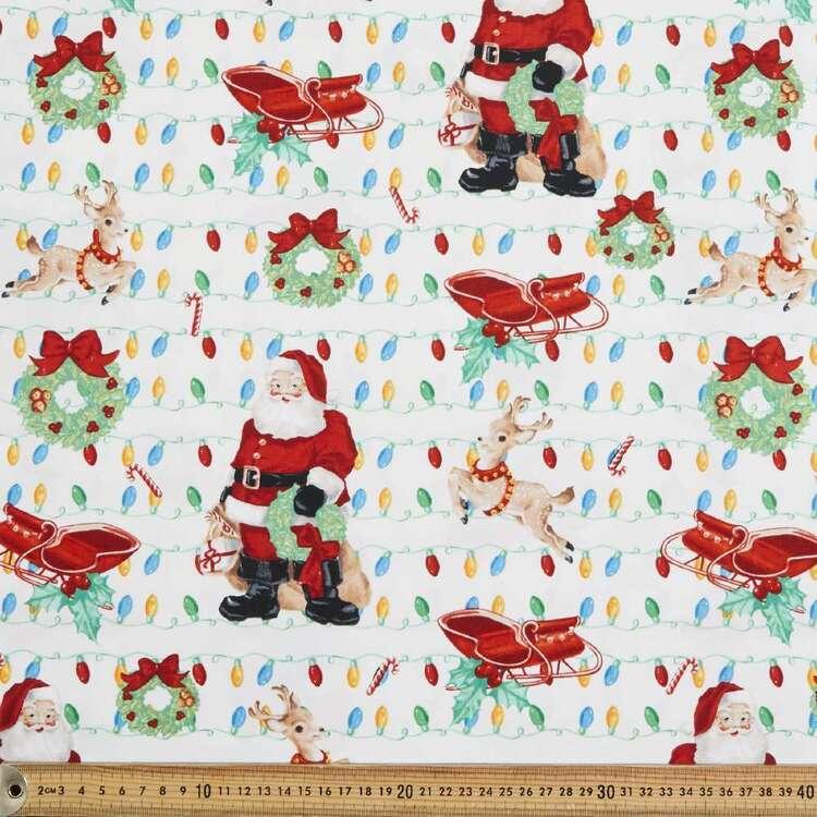 Santa's Arrival Cotton Fabric