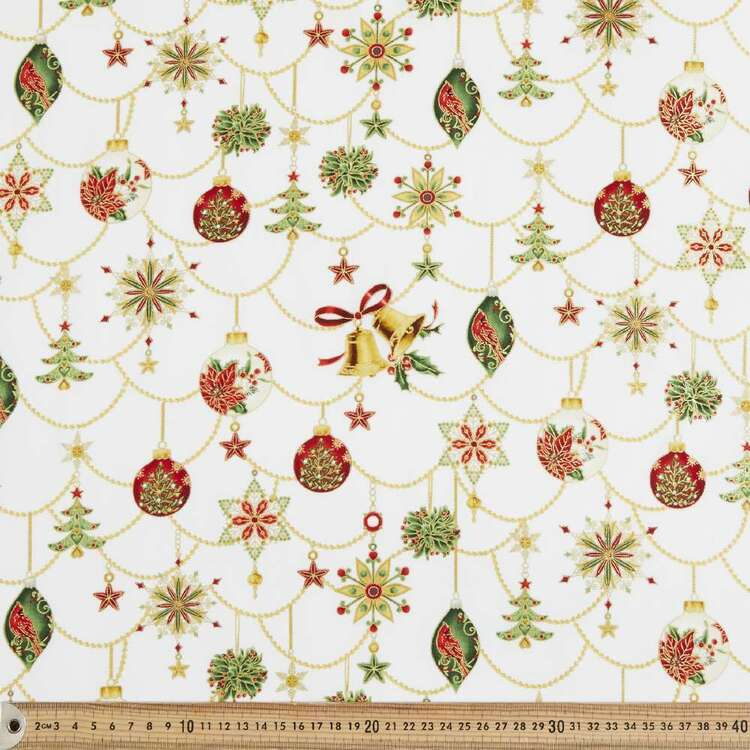Ornament Holiday Cotton Fabric