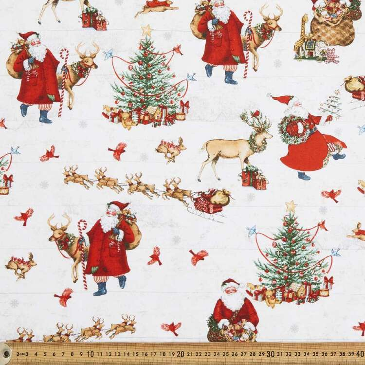 Santa's In Town Cotton Fabric