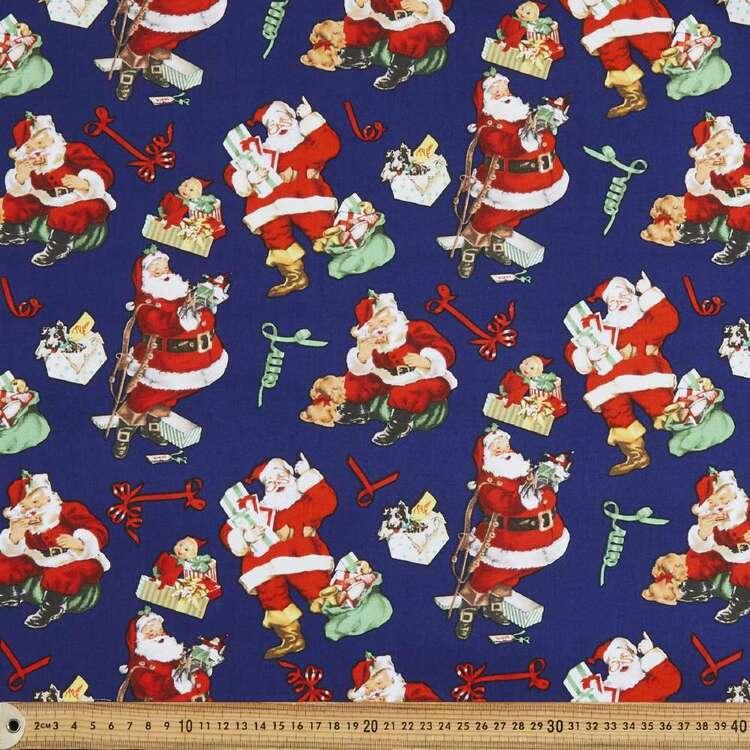 Santa's Coming Cotton Fabric