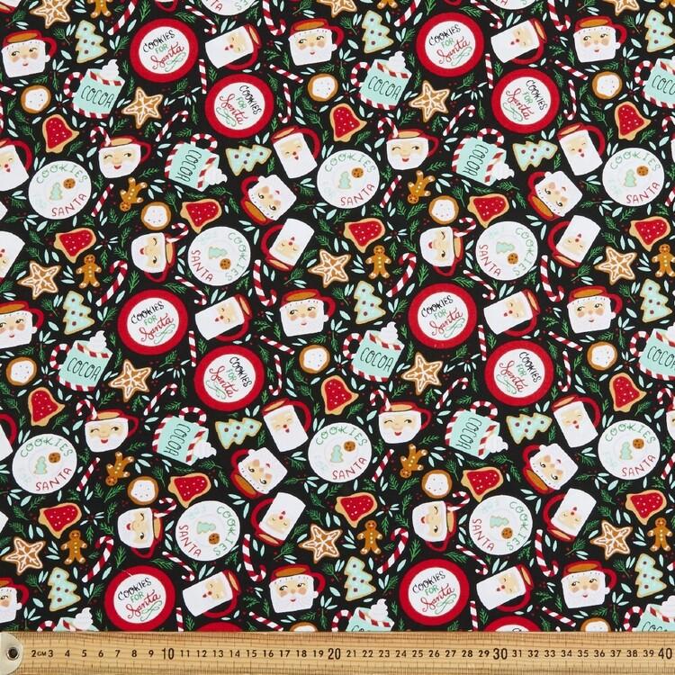 Cookies 4 Santa Cotton Fabric