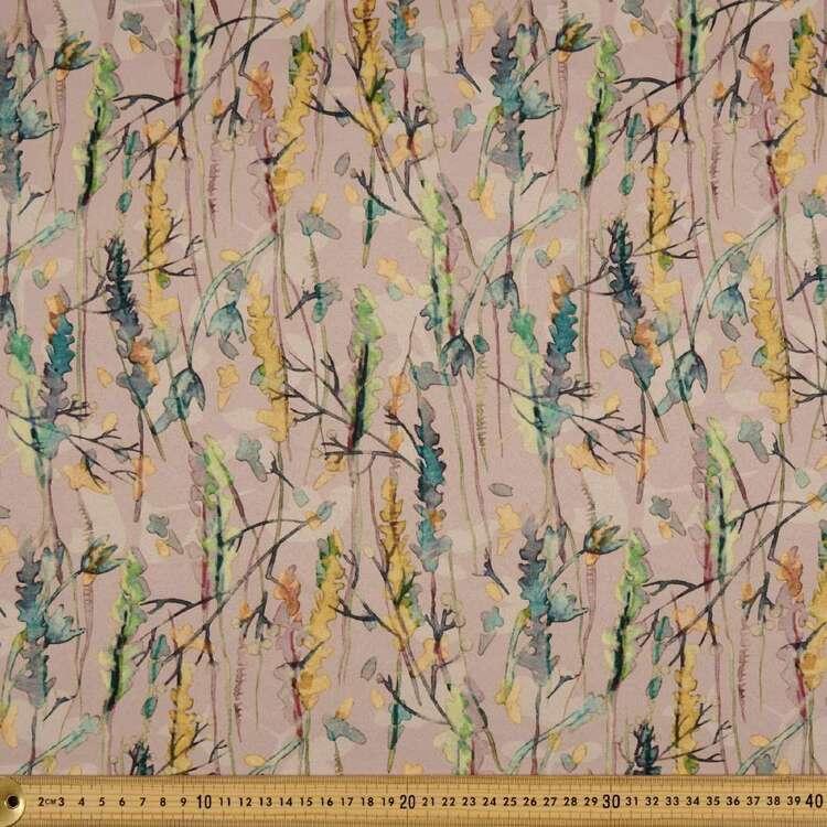 Kyoto Dull Satin Watercolour Printed 140 cm Fabric