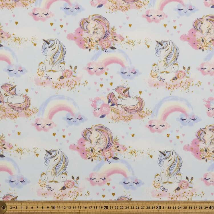 Unicorn Utopia Unicorns Cotton Fabric
