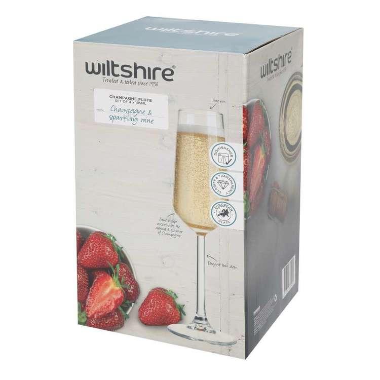 Wiltshire Allegra Flute Glasses 4 Pack