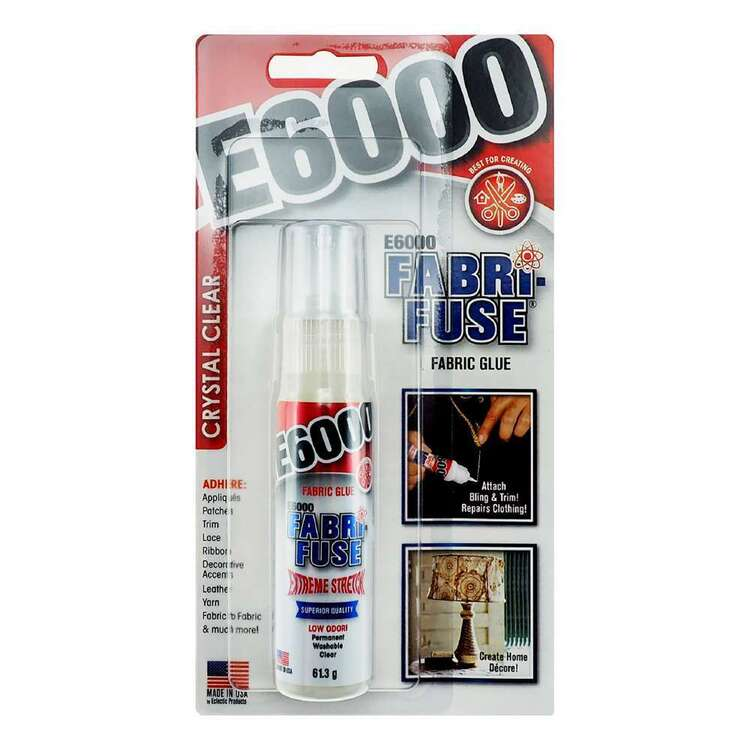 E6000 Fabric-Fuse Clear Glue