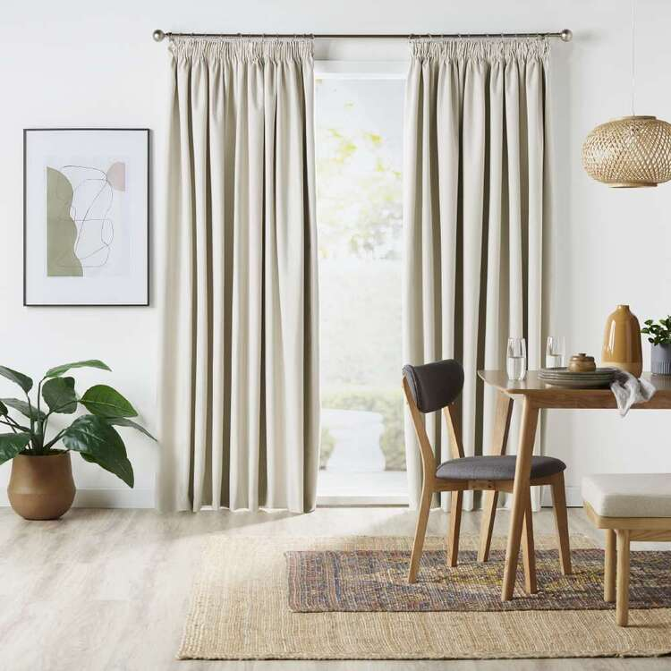 Home Label Collection Aria Blockout Pencil Pleat Curtains