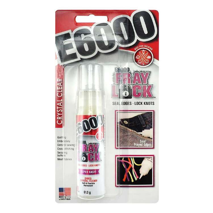 E6000 Fray Lock Clear Glue