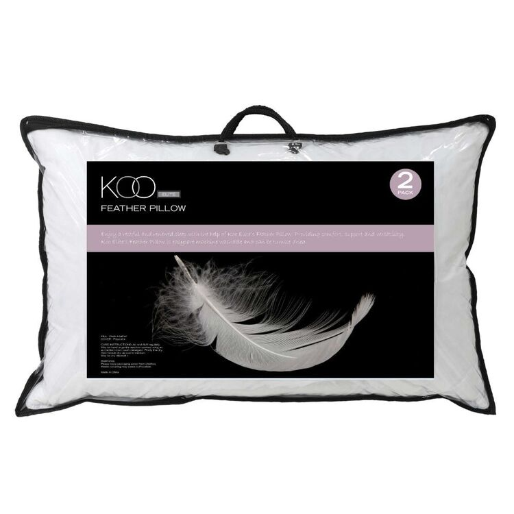 KOO Elite Feather Pillow 2 Pack