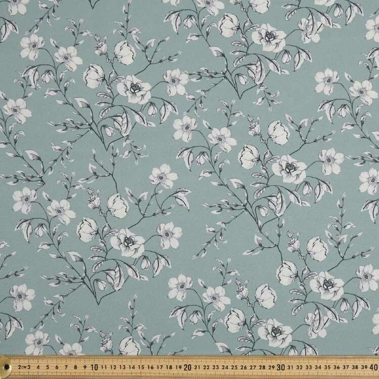 Flower #3 Printed 140 cm Polyester CDC Fabric