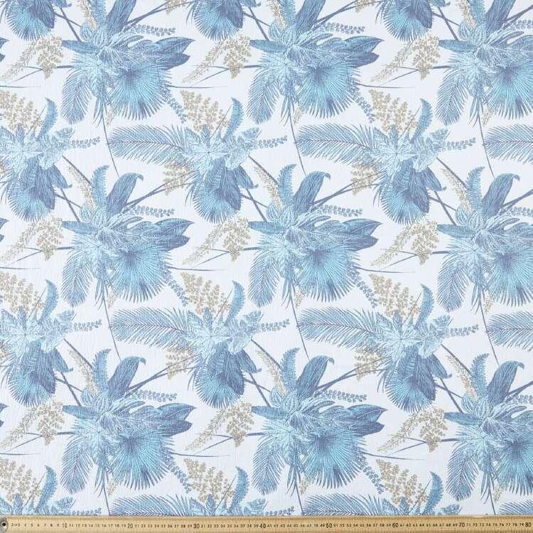 Torino Luxe Palms Printed 130 cm Crepe Fabric