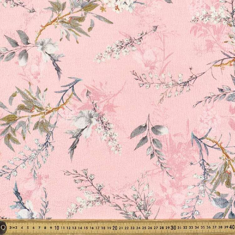 Floral #4 Printed Torino Luxe Crepe Fabric