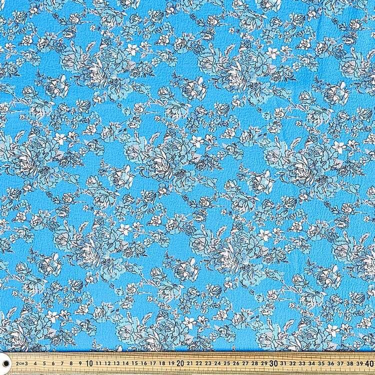 Torino Luxe Rose Printed 130 cm Crepe Fabric