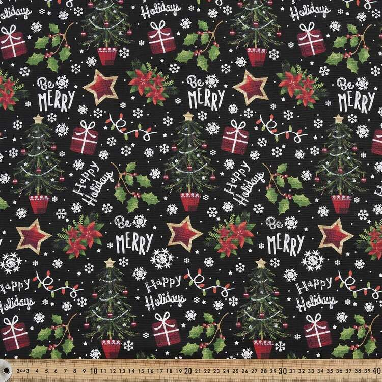 Fabric Traditions Christmas Be Merry Fabric