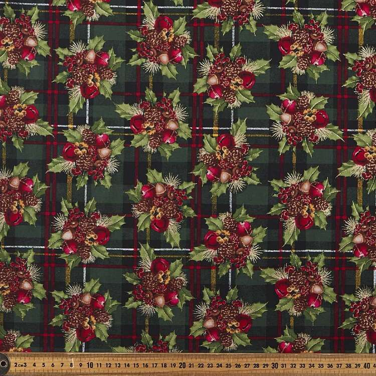 Fabric Traditions Plaid Bouquet Cotton Fabric