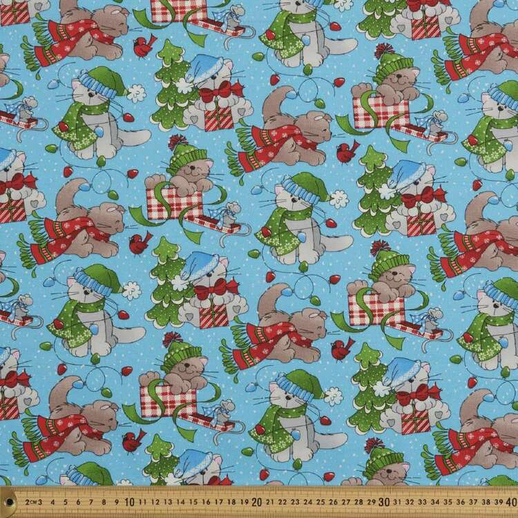 Fabric Traditions Cat Wrap Cotton Fabric