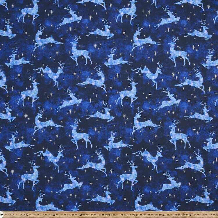 Fabric Traditions Christmas Stag Fabric