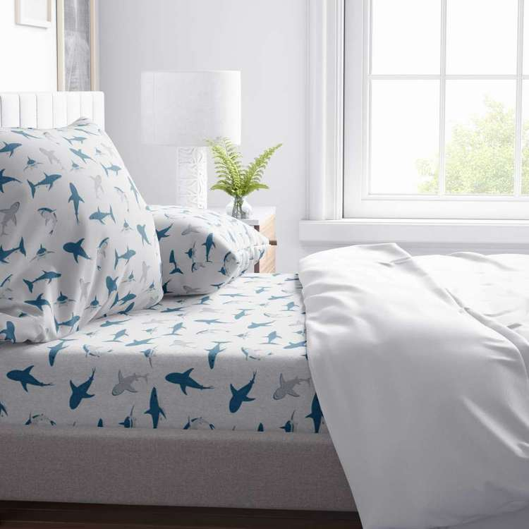 Kids House Shark School Sheet Set