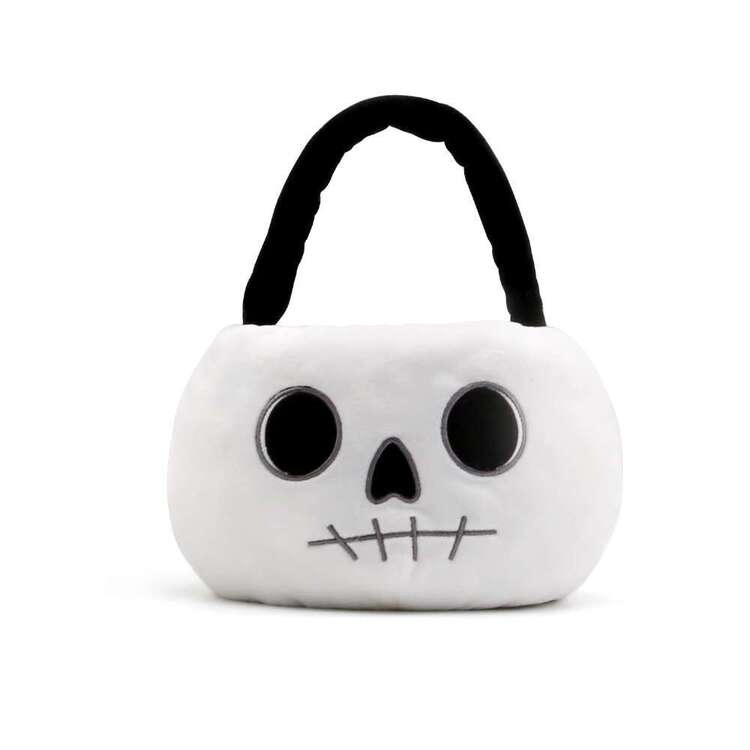 Spooky Hollow Plush Skull Basket