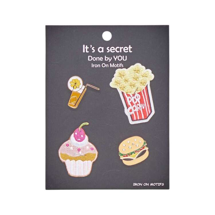 Movie Food Enamel Pin & Motif Set