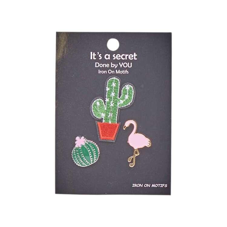 Cactus Enamel Pin & Motif Set