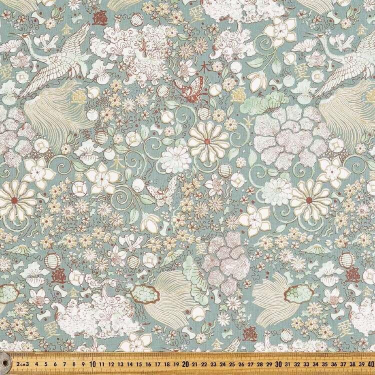 Oriental Daze Garden Cotton Fabric