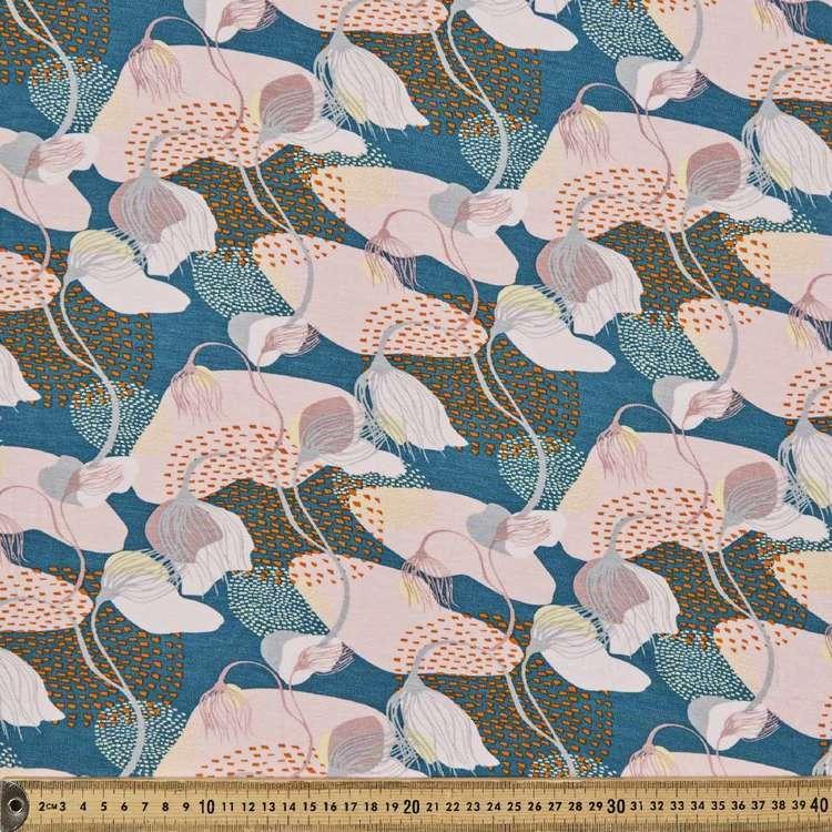 Vanessa Holliday Garden Printed 148 cm Rayon Spandex Knit Fabric
