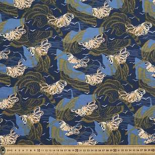 Vanessa Holliday Night Sky Printed Cotton Spandex Fabric
